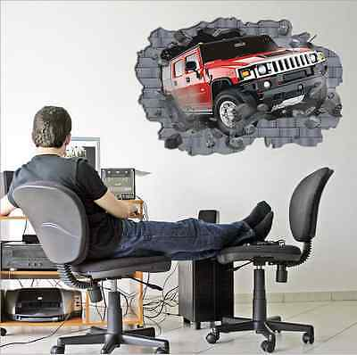 dimensional painting bedroom living room TV background wall sticker Car