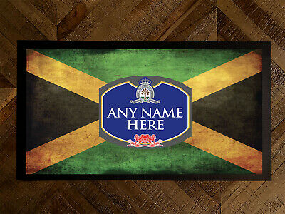Personalised Jamaican Flag beer label bar runner Pubs Clubs & Cocktail Bars