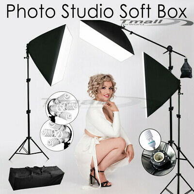 +Studio 5 Head Softbox Continuous Lighting Light Soft Box Stand Photography Kit