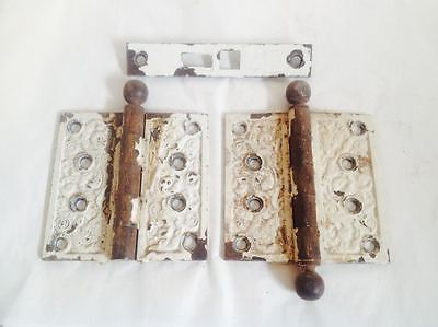 Antique Victorian Set of Hinges Rare Free Shipping