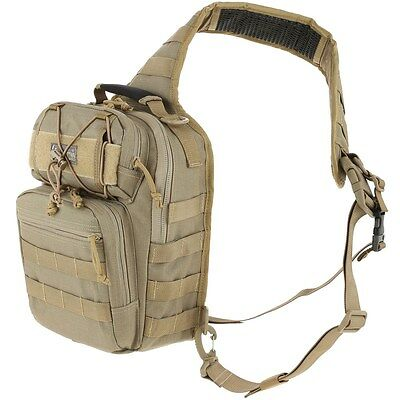 New! Maxpedition Lunada Gearslinger 600 cu. in. / 9.8L Khaki Backpack 0422K