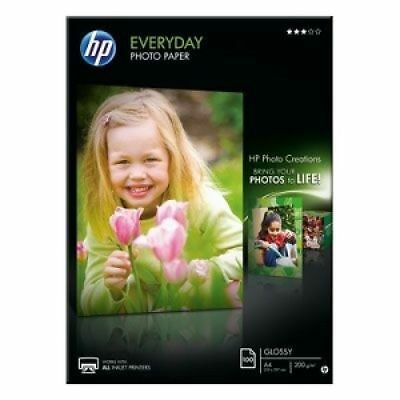 HP Everyday (A4) Glossy Photo Paper (100 Sheets) 200gsm (White)