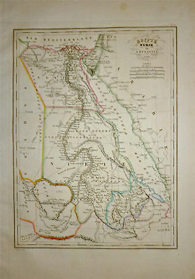 1834 Genuine Antique map of Egypt . by Malte-Brun