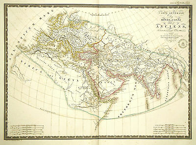 1821 Genuine Antique map of the Ancient World by A.H. Brue