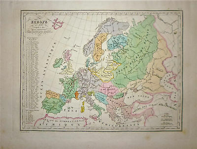 1833 Genuine Antique map of Ancient Europe. Malte-Brun