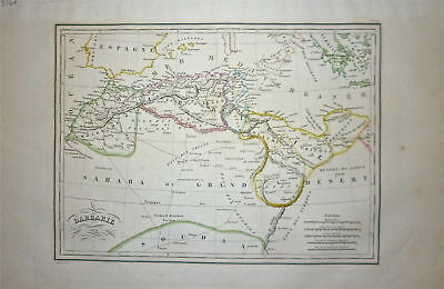 1834 Genuine Antique map of Northern Africa. Malte-Brun