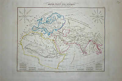 1833 Genuine Antique map of Ancient World  Malte-Brun