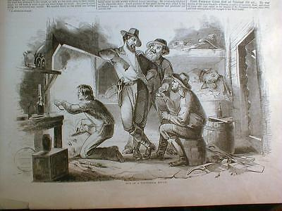 *1853 Illust newspaper CALIFORNIA Gold MINING Fairmont Waterworks PHILADELPHIA