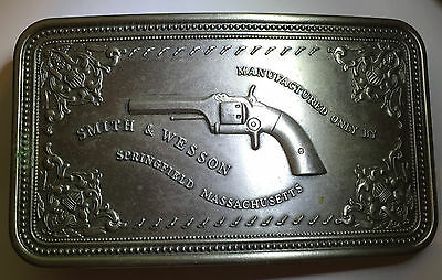 Smith & Wesson 1980 Vintage Belt Buckle - Pistol Case - Nickle - Free Shipping