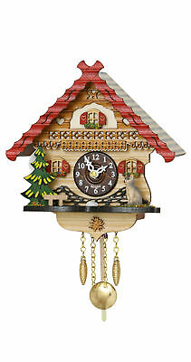 Kuckulino Black Forest Clock with quartz movement and cuckoo ch.. TU 2056 PQ NEW