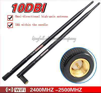 2.4G 10DBI WIFI High-gain Omnidirectional Antenna Wireless Vc BEST