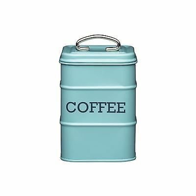 Living Nostalgia Coffee Canister Kitchen Storage Jar Containers Pots - Pale Blue