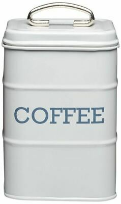 Living Nostalgia Coffee Canister Kitchen Storage Jar Containers Pots - Grey