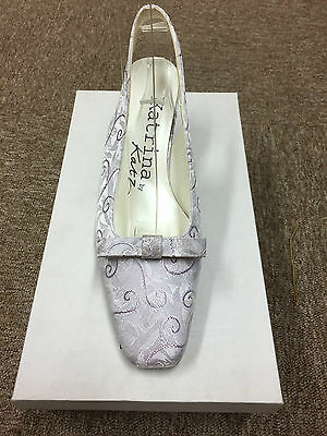Ladies Lilac Orchid bridal bridesmaid Wedding Shoes All Sizes 3-8 Style Imogene