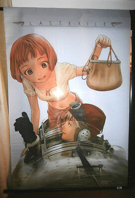 Vtg Last Exile Anime Fabric Wall Scroll Range Murata 2003 29.5 by 43 inches