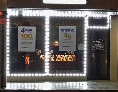 STOREFRONT BUSINESS WINDOW WHITE LED LIGHT EXTREMELY BRIGHT UL POWER SUPPLY