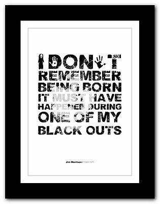 Jim Morrison ❤ typography quote poster art limited edition print The Doors #14