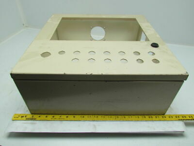 "20x20x7"" Steel Electrical Enclosure Box Cabinet w/Backplate Panelview Pushbutton"