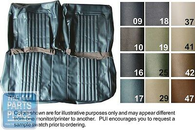 1972 Chevelle Dark Green Front Bench Seat Covers And Coupe Rear - PUI