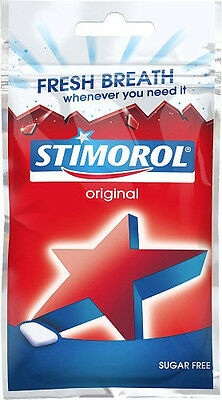 Stimorol Chewing Gum SUGAR FREE 28 g ( 1.00 oz ) Made in Denmark All 6 Types