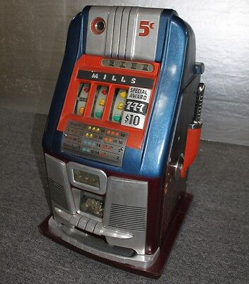 Mills High Top - 21 Bell -  5c Slot Machine 1948 - Mystery Payouts + 777 Tokens
