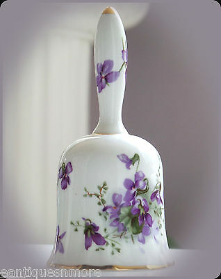 Vintage Hammersley Bone China Victorian Violets Bell, #H42; MINT CONDITION