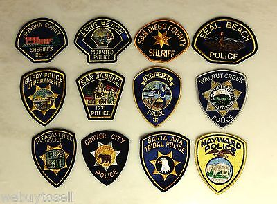 Vintage Lot 16 Police Patches San Diego Long Beach Lakewood Gilroy California