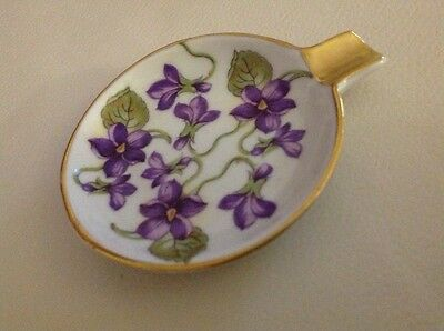 Vintage Mitterteich Floral Porcelain Ashtray w Gold Trim Bavaria #51