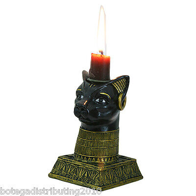 Ancient Egyptian Gods Bastet Candle Holder Taper Candle Veladora Dioses Cat
