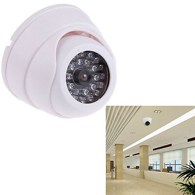 Dummy Outdoor Dome Security CCTV Surveillance Camera with 30 Flashing LED Light