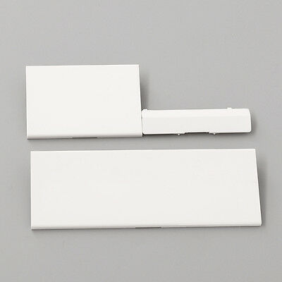 New White Plastic Door Slot Cover Lid Part For Wii System Replace Repair