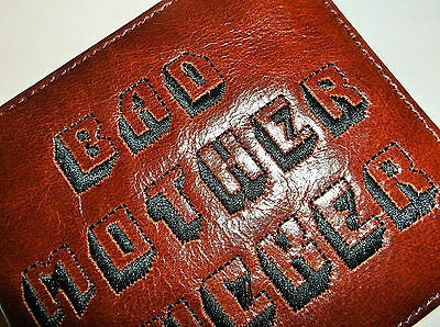 LEATHER EMBROIDERED PULP FICTION (BAD MOTHER FxxxER) WALLET