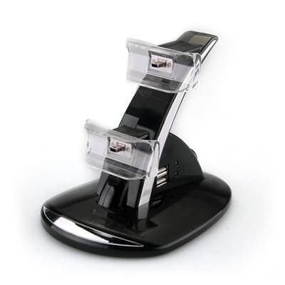 LED Dock Caricabatteria Stand per Playstation 3 PS3 Wireless Controller