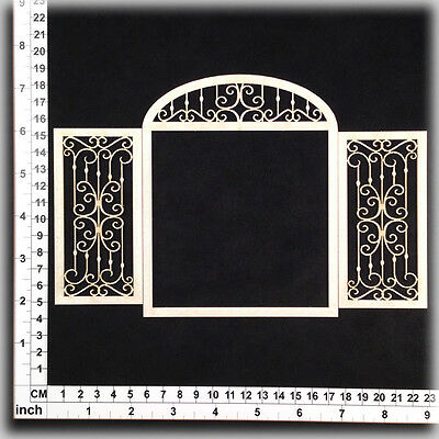 Chipboard Embellishments for Scrapbooking, Cardmaking - Doorway 15118w