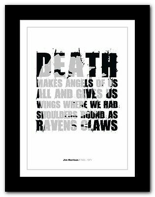 Jim Morrison ❤ typography quote poster art limited edition print The Doors #16