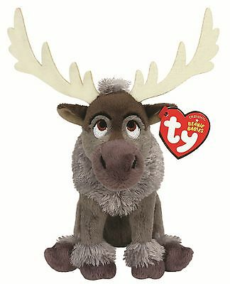 Ty Beanie Babies 41154 Disney Frozen Sven Reindeer Sparkle With Sound
