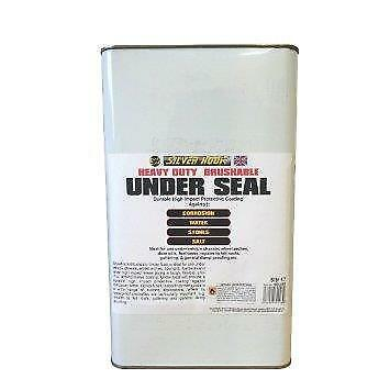 Silverhook Black Heavy Duty Underseal - Brushable Car/Van Or DIY 5 Litre