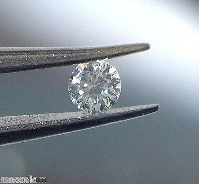 0.02 Ct Round Brilliant  E Si  Natural Loose Diamond Stone 2 Points For Ring