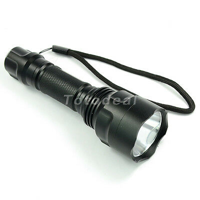 Green Light CREE Q5 LED Flashlight 3-mode Tactical 18650/CR123 Torch for Hunting