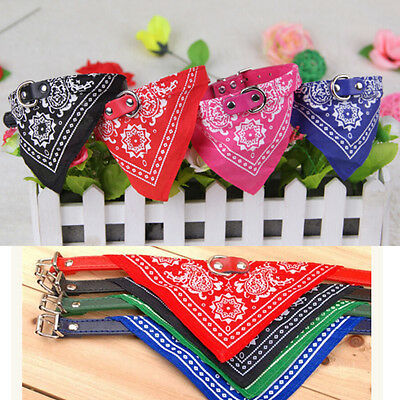 Vouge Adjustable Pet Dog Puppy Cat Neck Scarf Bandana with Collar Neckerchief R