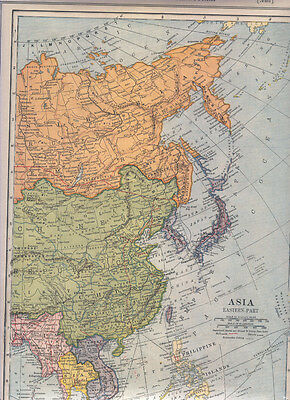 1921  ANTIQUE   Map ASIA eastern / FRANCE Northern Dated