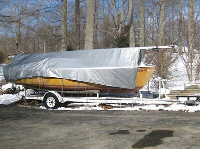 1975 Catalina 22 Pop Top Project Sailboat and Trailer