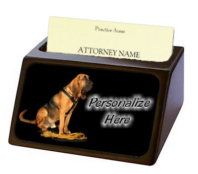Bloodhound ( 1 )  Pet Breed  Personalized Business Card Holder