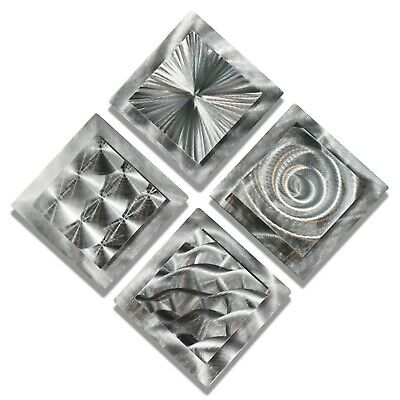 Modern Abstract Silver Metal Wall Art Original Home Decor Sculptures Jon Allen