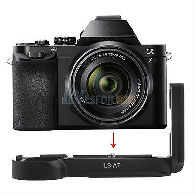 Vertical L Bracket Quick Release QR Plate Holder For Sony A7 A7R A7S Black LB-A7