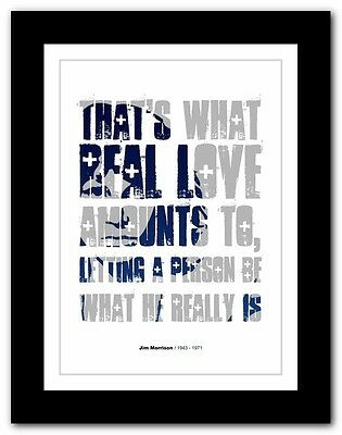 Jim Morrison ❤ typography quote poster art limited edition print The Doors #28