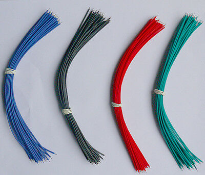 120PCS 20CM 4 Colors Two Ends Tin-plated  ZF Hot Jumper Cable Wires