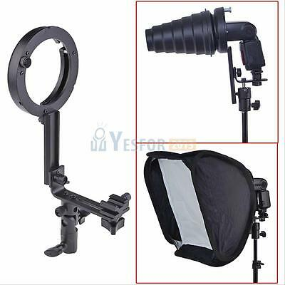 Speedlite Flash L Type Bracket Adapter Holder for Bowens Mount Hot Shoe Softbox
