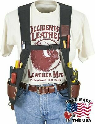 Occidental Leather 2500 Leather Stronghold Suspendavest Belt Free Tool System