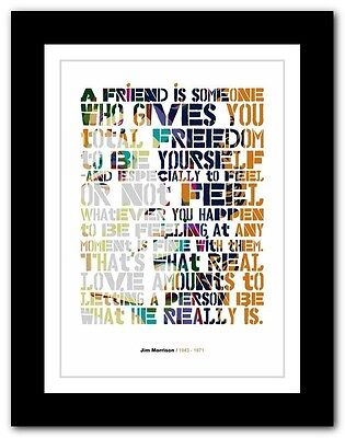 Jim Morrison ❤ typography quote poster art limited edition print The Doors #7